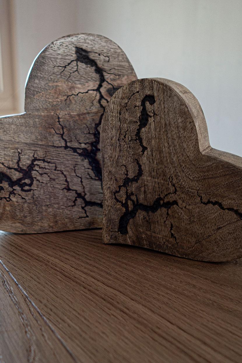 coeurs en bois décoration